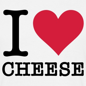 Vit I Love Cheese (2c, NEU) T-shirts - T-shirt herr