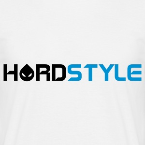 Hvid Hardstyle Head Text T-shirts - Herre-T-shirt