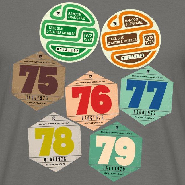 Vignettes automobiles années 70