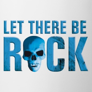 Weiß let_there_be_rock_skull_blue Tassen - Tasse