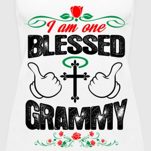 I Am One Blessed Grammy Tops - Women's Premium Tank Top