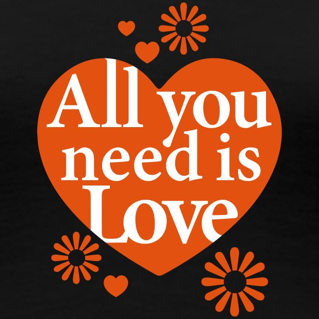 All you need is Love Heart Herz Blume Flower hygge