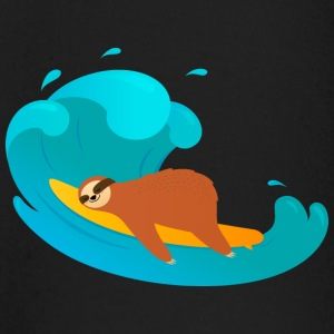 Lazy Sloth Surfing On Big Wave Långärmade T-shirts baby - Långärmad T-shirt baby