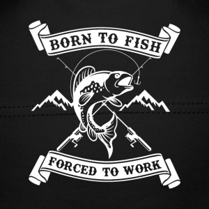 Born to fish forced to work Baby Mütze - Baby Mütze
