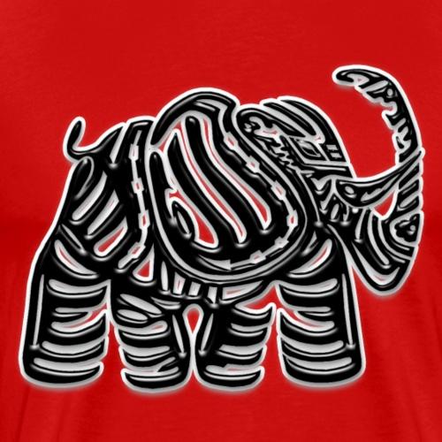 Elefante01 ByN relieve