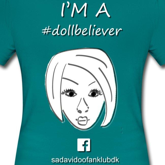 Sada Vidoo Fanklub t-shirt TURKIS, DAME