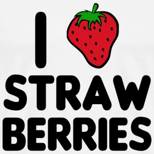 I Love Strawberries T-Shirts - Männer Premium T-Shirt