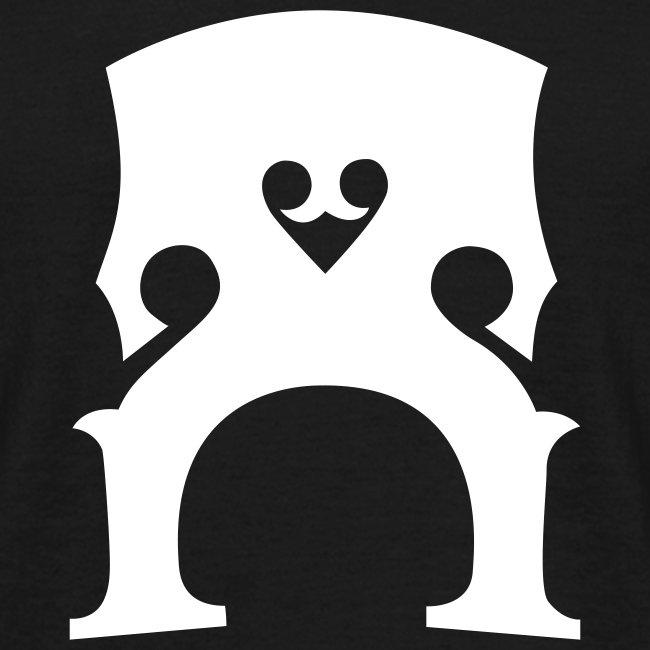 T-Shirt mit Kontrabass-Steg (s/w)