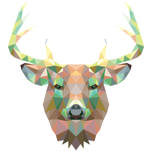 Deer, Polygonal, Antlers, Hipster, Color