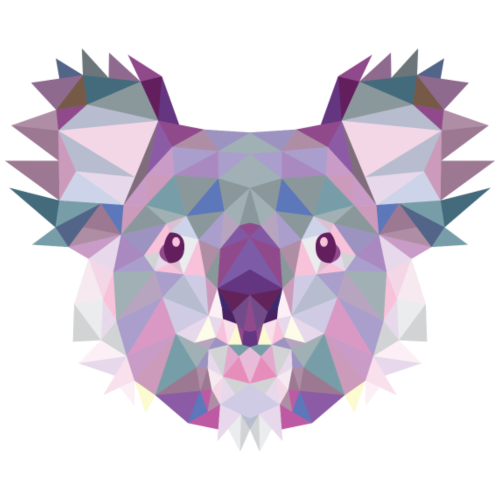 Koala, Triangle, Illustration, Animals