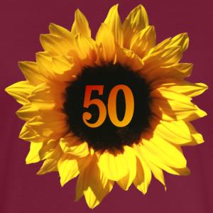"""Geburtstag T-Shirts mit """"Sonnenblume 50. Geburtstag"""""""