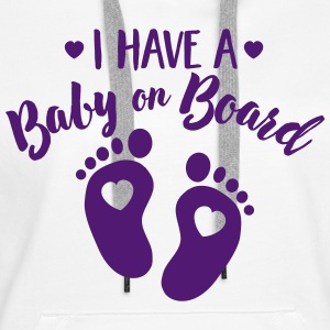I have a Baby on the Board Hoodies & Sweatshirts - Women's Premium Hoodie