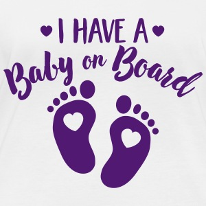 I have a Baby on the Board Långärmade T-shirts - Ekologisk långärmad T-shirt dam
