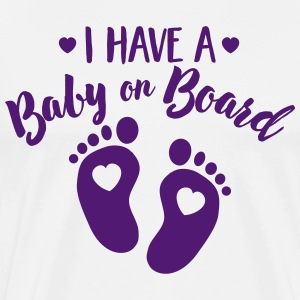 I have a Baby on the Board T-shirts - Mannen Premium T-shirt