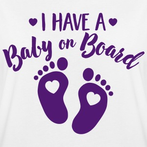 I have a Baby on the Board Tee shirts - T-shirt oversize Femme