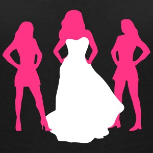 Bride, hen party, bachelorette party T-skjorter - T-skjorte med V-utsnitt for kvinner