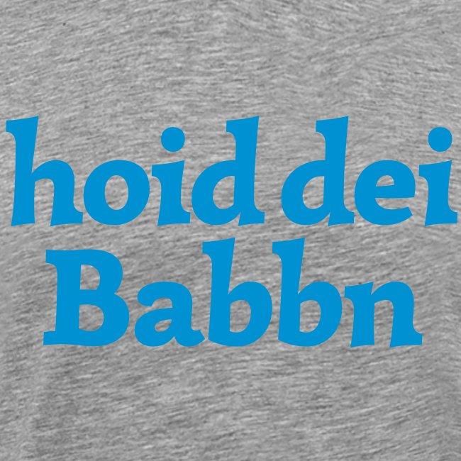 Grantl-Shirt hoid dei Babbn weiß-blau