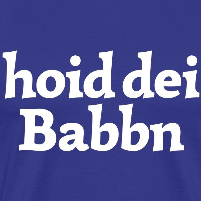 Grantl-Shirt hoid dei Babbn goldgelb