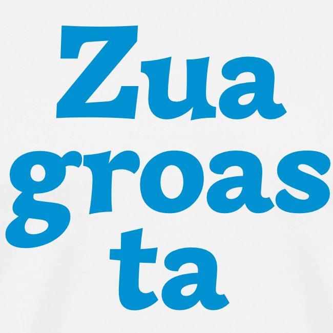 Grantl-Shirt Zuagroasta weiß-blau