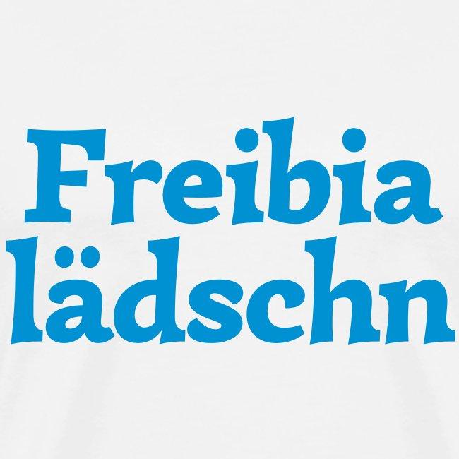 Grantl-Shirt Freibialädschn weiß-blau