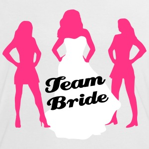 Team Bride, hen party, bachelorette party T-skjorter - Kontrast-T-skjorte for kvinner