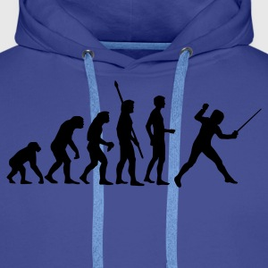 evolution_fechter_a Sweat-shirts - Sweat-shirt à capuche Premium pour hommes