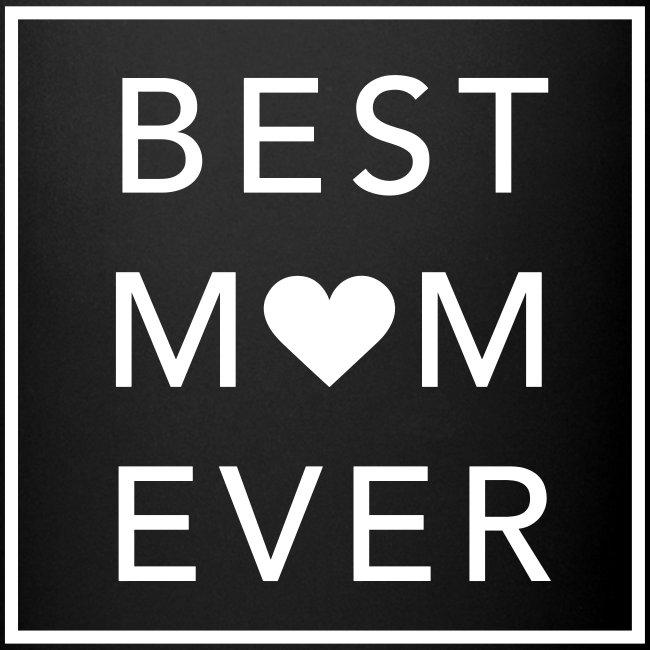 Best Mom ever – schwarze Tasse (dh)
