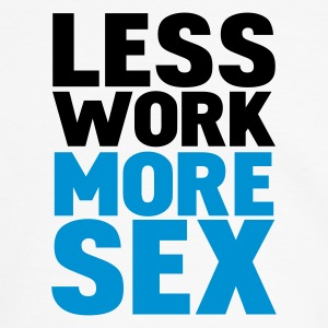 Wit/zwart less work more sex T-shirts - Mannen contrastshirt