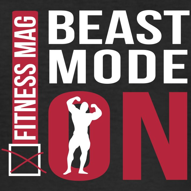 "Tee shirt moulant ""beast Mode On"" Fitness Mag 100% coton"