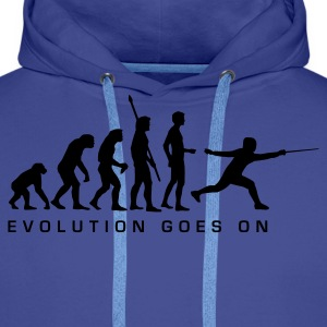 evolution_fechter_d Sweat-shirts - Sweat-shirt à capuche Premium pour hommes