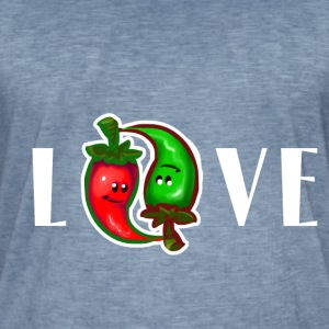 Hot like a Chili Love - Männer Vintage T-Shirt