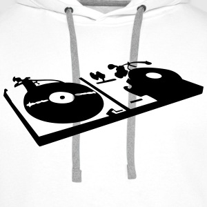 DJ, record player, vinyl Sweat-shirts - Sweat-shirt à capuche Premium pour hommes