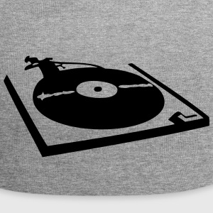 DJ, record player, vinyl Caps & luer - Jersey-beanie