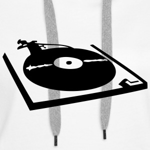 DJ, record player, vinyl Sweat-shirts - Sweat-shirt à capuche Premium pour femmes