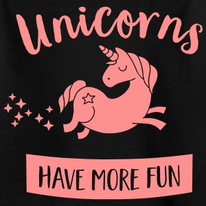 Unicorns have more fun Shirts - Teenage T-shirt