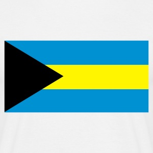 White Flag of the Bahamas Men's T-Shirts - Men's T-Shirt