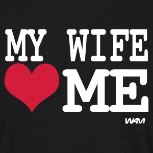 Noir my wife loves me by wam T-shirts - T-shirt Homme