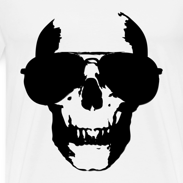 """SKULL GLASSES - """"black"""" T-Shirts"""