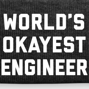 World's Okayest Engineer Funny Quote Caps & Hats - Winter Hat