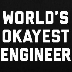 World's Okayest Engineer Funny Quote Bags & Backpacks - Tote Bag