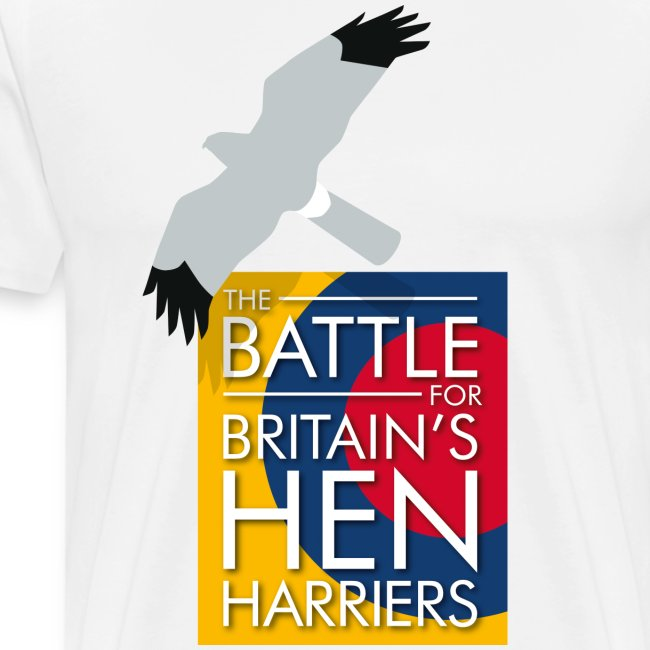 "New for 2017 - Men's ""The Battle For Britain's Hen Harriers"" T-shirt"