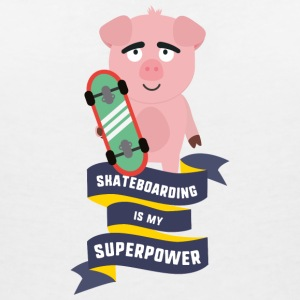 Skateboarding is my Superpower Saido T-Shirts - Women's V-Neck T-Shirt