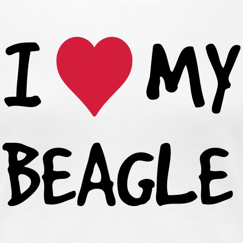 i love heart my beagle dog new
