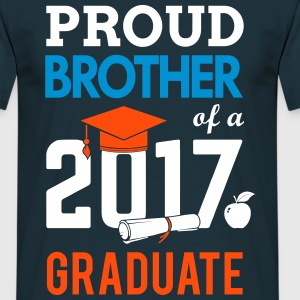 Class of 2017 Proud Brother Graduation T-Shirts - Men's T-Shirt