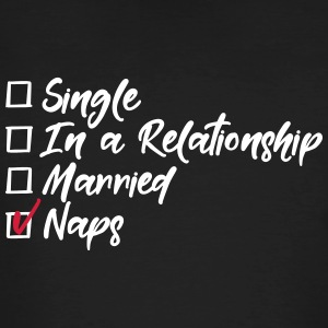 Single, in a relationship, Married, naps T-Shirts - Männer Bio-T-Shirt