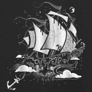 Sailing ship above the clouds Long Sleeve Shirts - Kids' Premium Longsleeve Shirt
