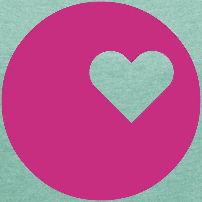LOGO HEART T-Shirt Frauen