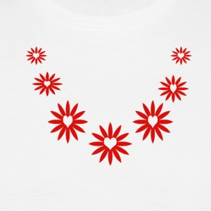 Daisy Hearts Necklace - Men's T-Shirt
