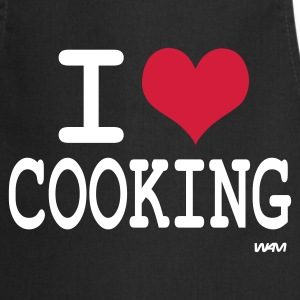 Svart i love cooking by wam Forklær - Kokkeforkle