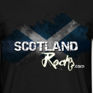 Scotland Rocks Grunge Saltire - Black - Men's T-Shirt